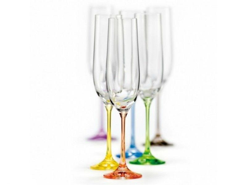 Бокалы для шампанского Bohemia Viola Rainbow 190 мл 6 шт (40729/190S/K0150)