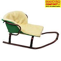 Меховой вкладыш в санки ТМ Kinder Comfort, зеленый, фото 1