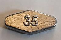 Груз Ромб скользящий 35г (упак 25шт)
