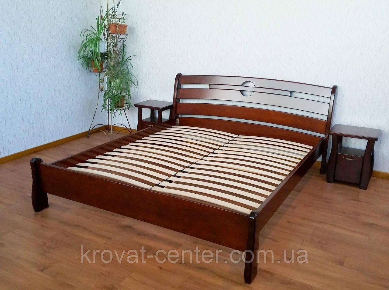 """Дерев'яні меблі для спальні від виробника """"Каприз"""" (ліжко з тумбочками)"""