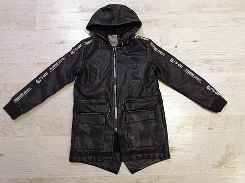 Куртки из кожзама для мальчиков GLO-STORY 110-160 р.р