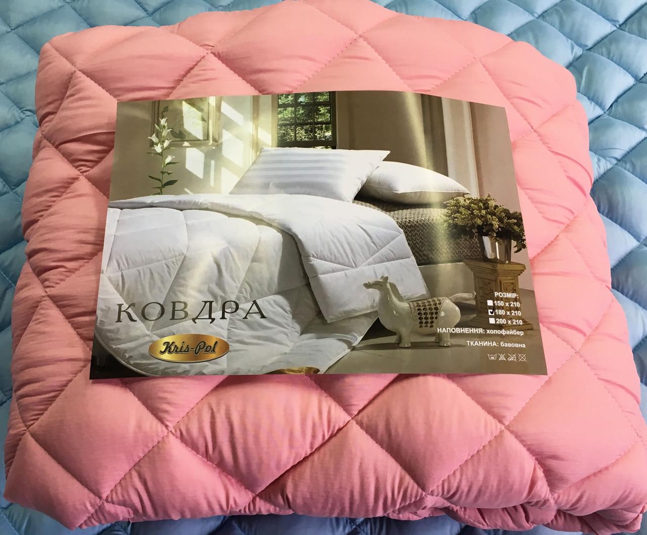 Одеяло двухспальное евро микрофибра холофайбер КУБ 200*210 евро (4810) TM KRISPOL Украина