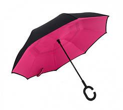 Зонт обратного сложения Up-brella ветрозащитный удобный С-образна ручка