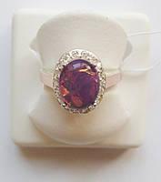 Серебряное кольцо Калейдоскоп с золотом , фото 1