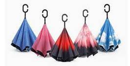 Умный зонт Up-brella обратного сложения ветрозащитный крутой