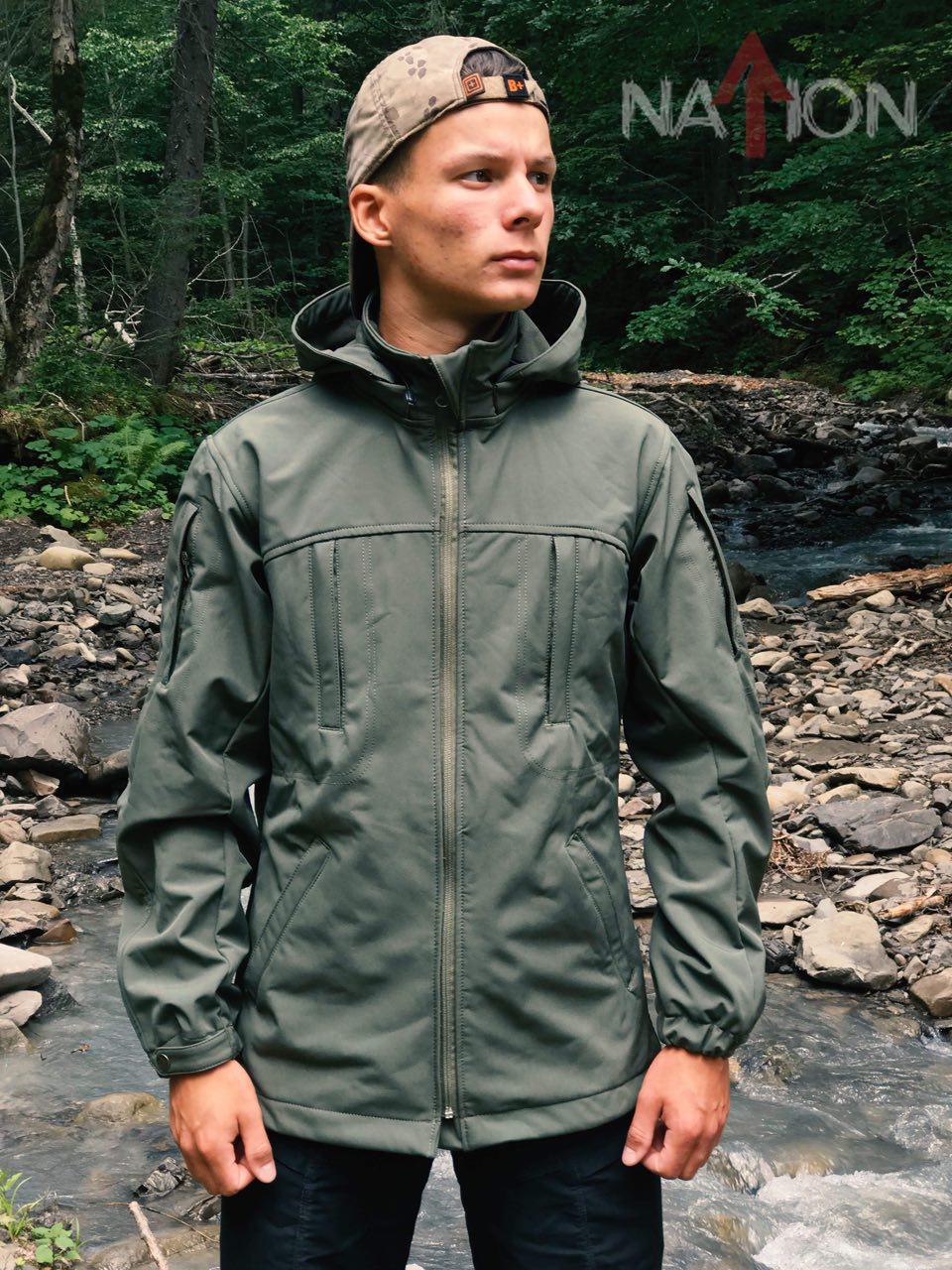Куртка софтшел «Скади» Nation Gear (олива)