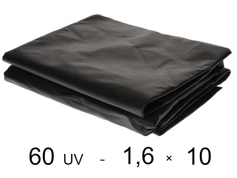 Агроволокно черное 60 uv - 1,6 × 10 м (Гекса)