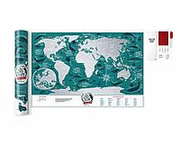 Скретч карта мира Travel Map Marine World (английский язык) в тубусе