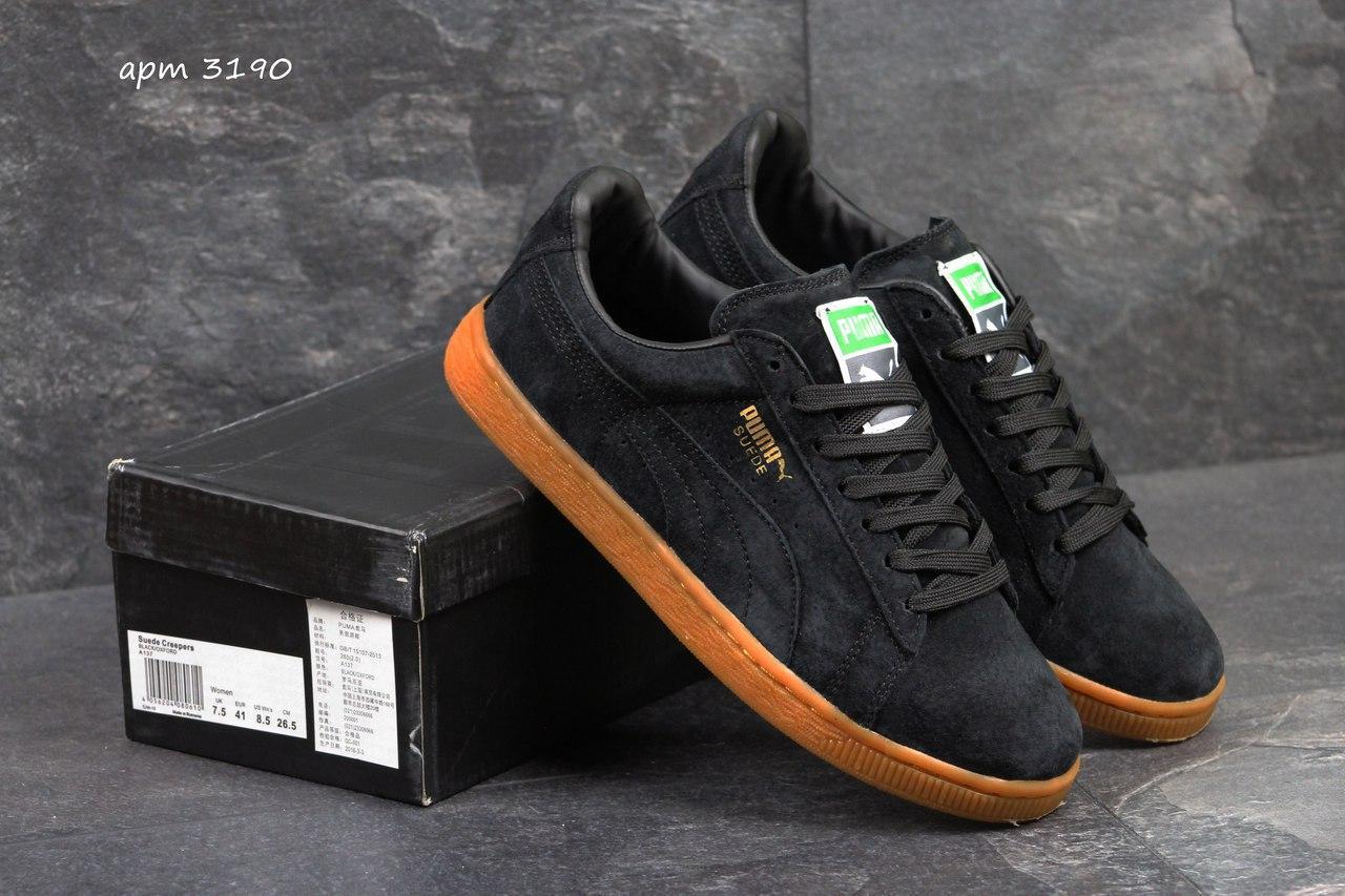 a68dfb63191c92 Мужские кроссовки Puma Suede черные 3190, цена 826,32 грн., купить в ...