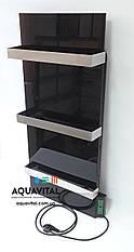 Полотенцесушитель стекло–керамический Dimol Standart 07 TR с терморегулятором (чёрный)