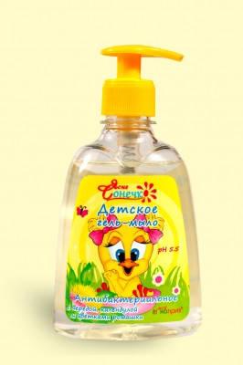 """Гель-мыло для детей """"Антибактериальное"""" 300 мл Мой каприз Ясне Сонечко, фото 2"""