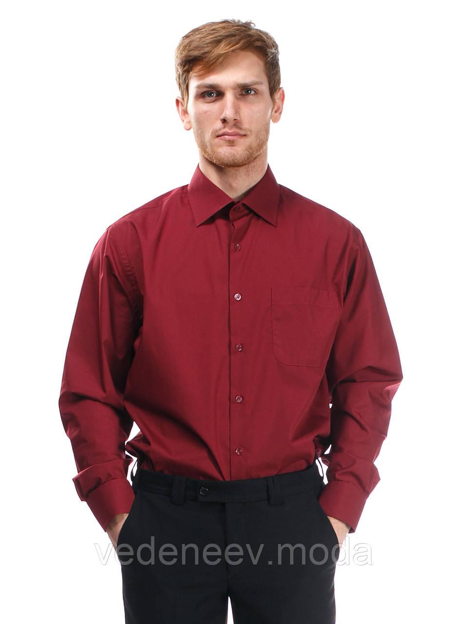 55be681028d Мужская классическая рубашка бордового цвета - Мужские и женские РУБАШКИ  для ВСЕХ.