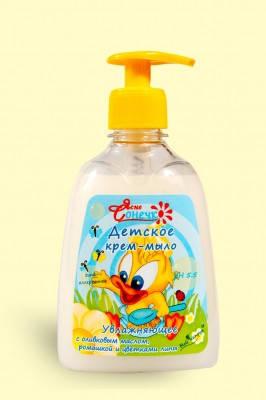"""Крем-мыло для детей """"Увлажняющее"""" 300 мл Мой Каприз Ясне Сонечко, фото 2"""