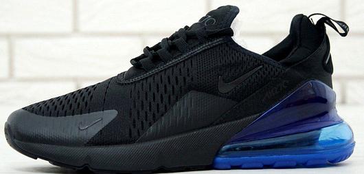 Кроссовки мужские Nike Air Max 270 Black Blue, найк аир макс 270, реплика 12000ba07b1