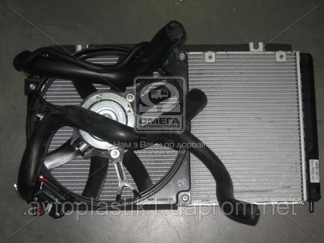 Радиатор ВАЗ 1117 1118 1119 Калина с трубопроводами и электро в сборе Автоваз