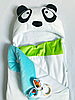 Конверт кокон на выписку Пандочка трехсезонный летний-весенний, фото 6