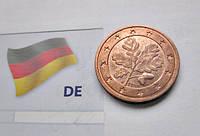 Германия 2 немецкие евроцента 2016 год (J), фото 1