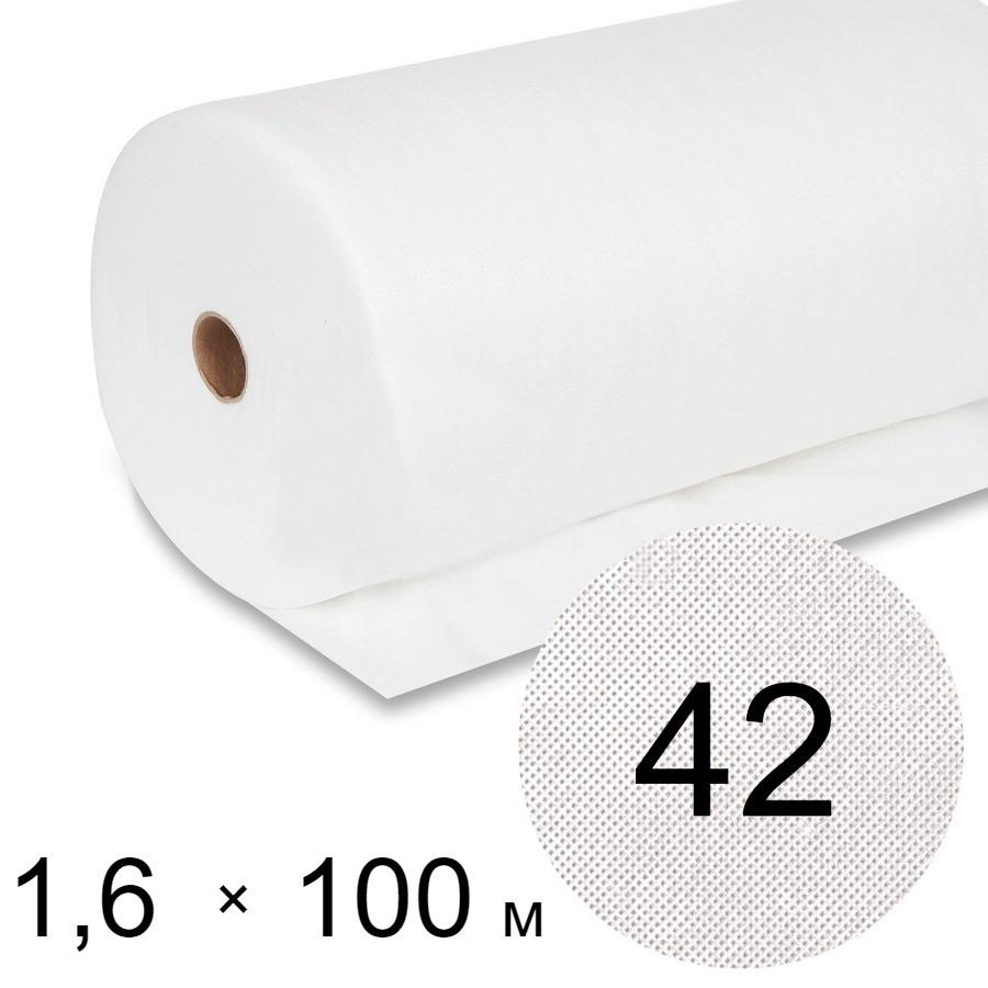 Агроволокно белое 42 uv - 1,6 × 100 м (Гекса)