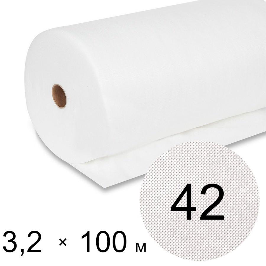 Агроволокно белое 42 uv - 3,2 × 100 м (Гекса)