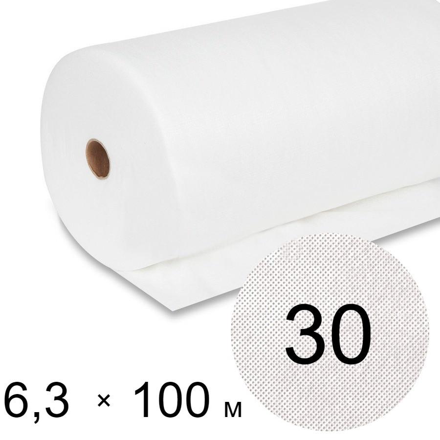 Агроволокно белое 30 uv - 6,3 × 100 м Гекса