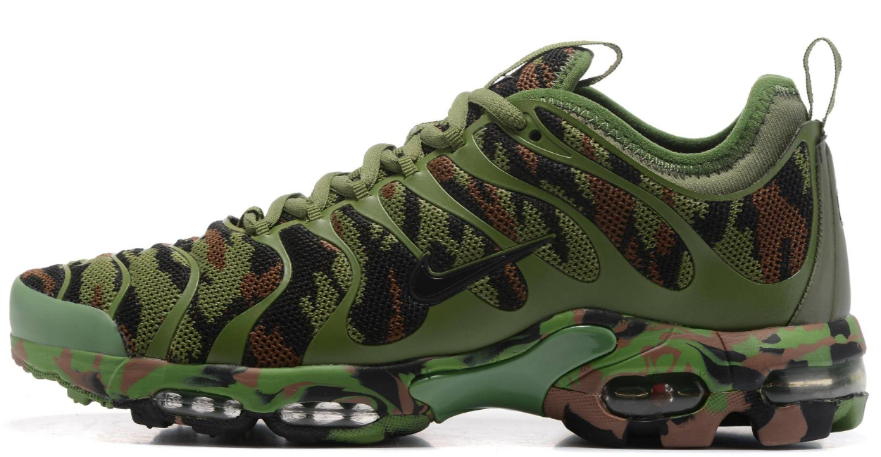 Мужские кроссовки Nike Air Max Tn Plus Green/Camo, найк аир макс тн камуфляж