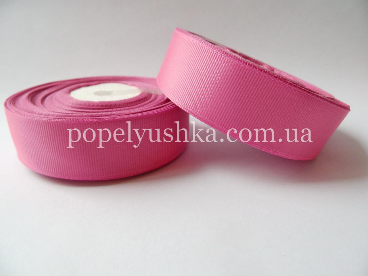 Стрічка репсова 2,5см яскраво-рожева