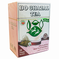 Чай Akbar Do Ghazal  белый пирамидками с розой 25 шт