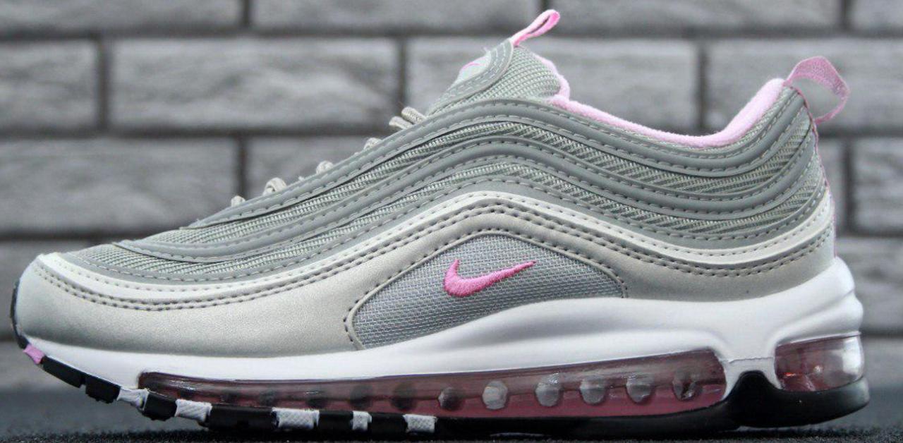 Кроссовки Nike Air Max 97 Grey/Pink, найк аир макс 97