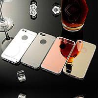 Зеркальный TPU чехол для iPhone 5 / 5S / SE (3 Цвета)