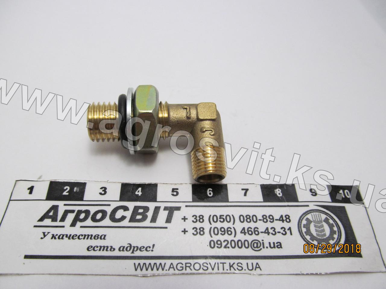 Уголок М-10*1,5 / М-12*1,5 (с гайкой), кат. № DK-1450
