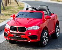 Детский электромобиль БМВ BMW T-7830, красный. Колеса EVA, MP3, свет.