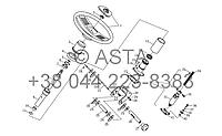 Рулевой механизм в сборе II (опция) на YTO X1304