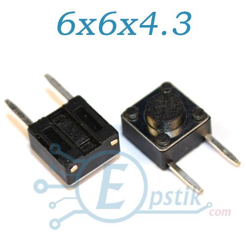 Кнопка тактовая, 6x6x4.3мм. 2pin