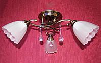 Люстра потолочная на 3 лампочки P3 - 37392/3C (AB+WT)