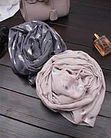 Серебристые перышки шарф, палантин, платок
