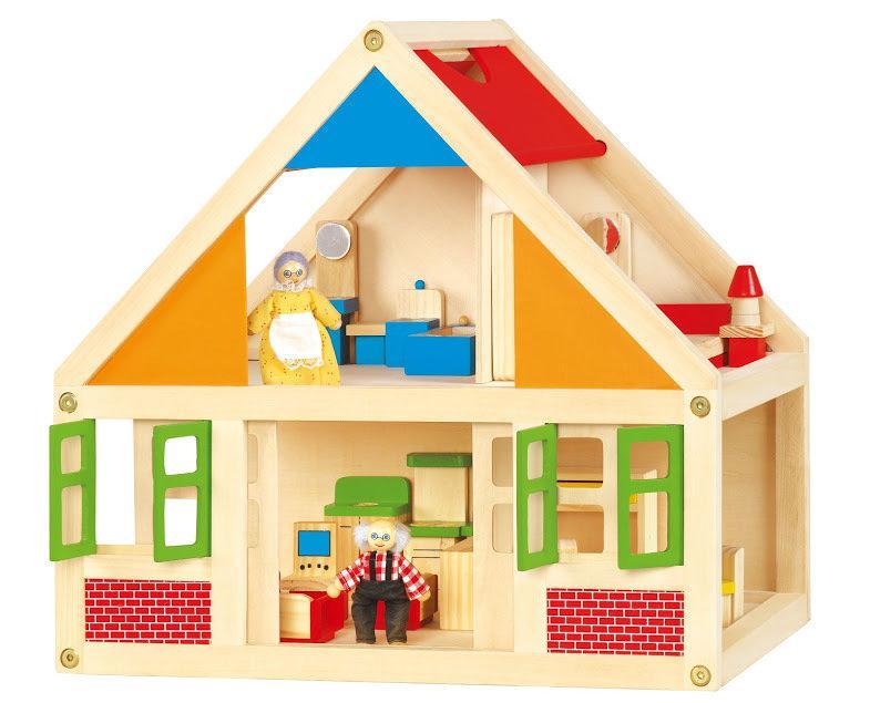 Кукольный домик с мебелью Viga toys (56254)