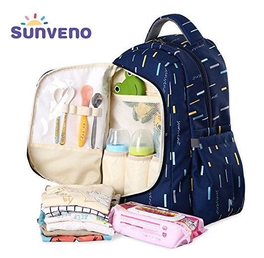 Рюкзак для мам Sunveno 2 в 1 Оригинал с термосумкой в комплекте. Новейшая модель с огромным функционалом.