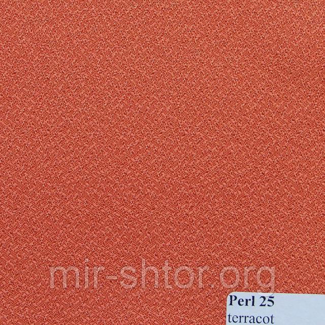 Готовые рулонные шторы 375*1500 Ткань Pearl 25 Терракот
