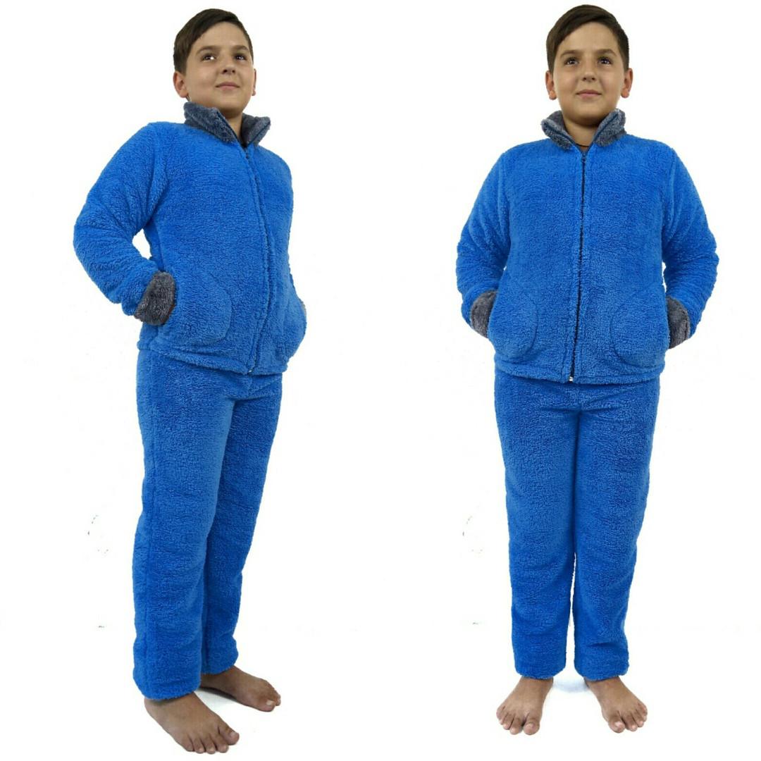 Домашний костюм -махровая пижамка теплая подросток мальчик