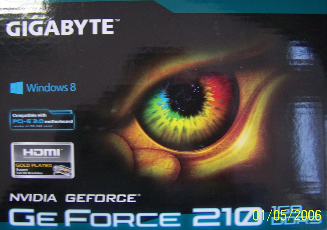 Видеокарта Gigabyte PCI-Ex GeForce 210 1024MB GDDR3 (64bit) (590/1200) (DVI-I, D-Sub, HDMI) (GV-N210D3-1GI)