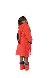 Махровый детский халат с сапожками ( длинные ушки)