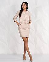 Платье женское короткое из кожзама (К24069), фото 1