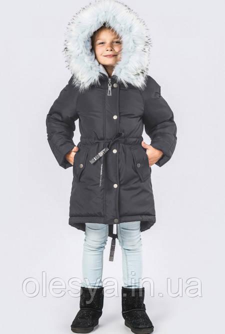 Супер!! Детская зимняя куртка парка на девочку X-Woyz 8263 Размер 42 Топ продаж!