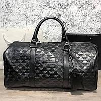 Сумка дорожная Softsided Luggage Emporio Armani All Over Logo Print Black (реплика)