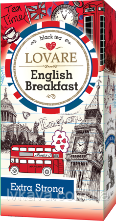 Чай черный English Breakfast  Lovare , 24 пак