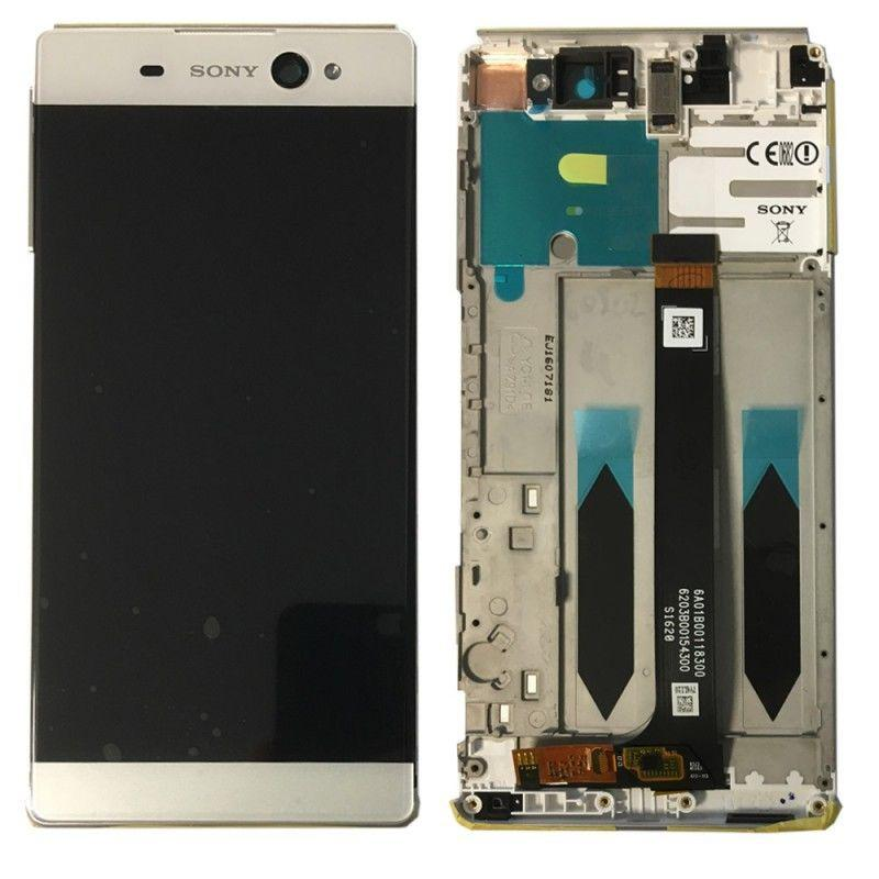 Дисплей (экран) для Sony G3226 Xperia XA1 Ultra Dual з сенсором (тачскріном) и рамкой белый Оригинал