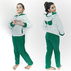 Детская махровая пижамка с ушками подросток.Домашний костюм .