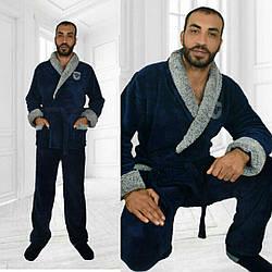 Чоловічий махровий теплий домашній костюм