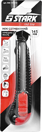 Нож сегментный Stark 18 мм, 145 мм (506145018)