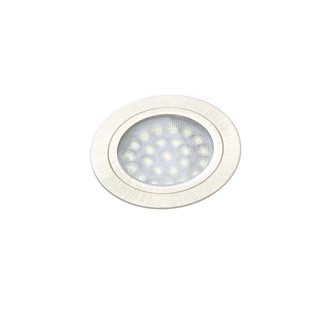 Светильник LED врезной круглый мебельный ROUND старая бронза теплый белый